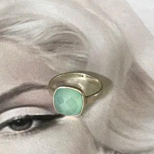 Jewelry - 925 Sterling silver Genuine chalcedony ring sz 7
