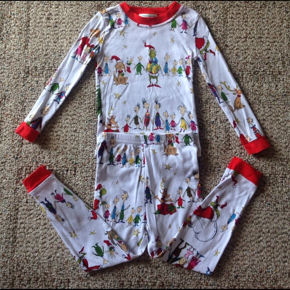 79 Off Other Pottery Barn Kids The Grinch Pajamas From