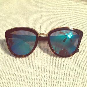 Diff Eyewear Accessories - DIFF CHARITABLE EYEWEAR ROSE TWO TONE W BLUE LENS