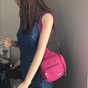 travelon Handbags - Travelon Pink Fushia Nylon Backpack Bag