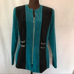 Amanda Smith Jackets & Blazers - Vintage 80s Ultrasuede Teal Jacket