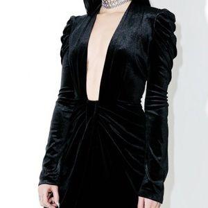 Gaga Velvet Dollskill  v plunge dress