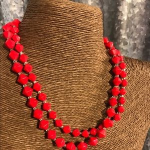 Vintage Jewelry - ♨New Listing♨ Vintage Red Glass Necklace