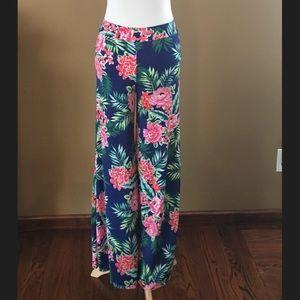 Fashionomics Pants - Fashionomics Wide leg floral print pants S M L