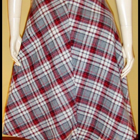 vtg 70s schoolgirl pleated plaid aline wool skirt s from. Black Bedroom Furniture Sets. Home Design Ideas
