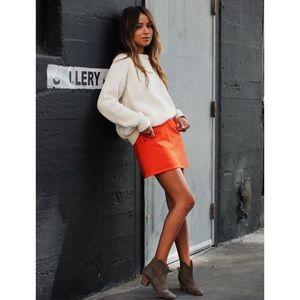 J. Crew Dresses & Skirts - 🆕 J.Crew Orange Wool Mini Skirt