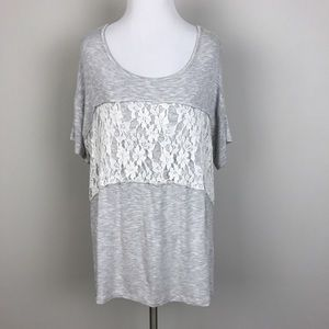 Olivia Moon Tops - [Olivia Moon] Lace Cut Out Back Jersey Tee Tunic