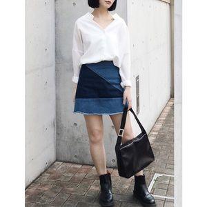 Forever 21 Dresses & Skirts - 🆕 F21 Denim Patchwork Skirt