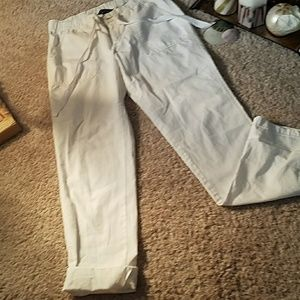 11 By Boris Bidjan Saberi Pants - White lightweight pants by Land's End size 4