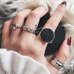 Jewelry - Silver Modern Punk Ring Set