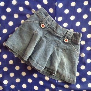 GAP Other - Girls Denim Skirt Skort 3T
