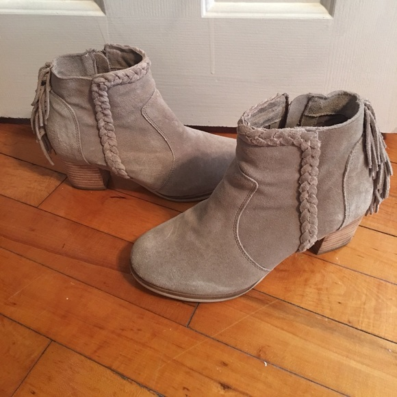 Shoes - Matisse Lucinda Suede Fringe Ankle Boot