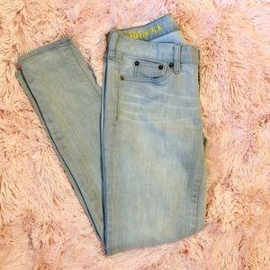 J. Crew Denim - J Crew Toothpick Skinny Ankle Crop Grey Jeans