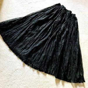 Dresses & Skirts - Pretty Sexy Sheer Black Lace Skirt EEUC