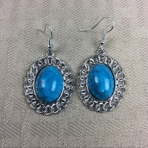 Jewelry - New Blue and Silver Chain Earrings