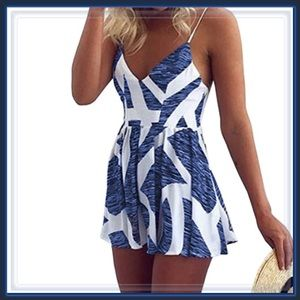 Pants - 🆕 White and Blue Romper