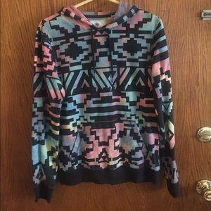 on the byas Tops - Tye dye Aztec hoodie