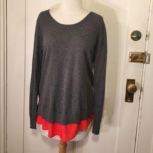 Market & Spruce Sweaters - Market & Spruce gray sweater  orange trim