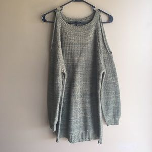 Poof! Sweaters - Cold shoulder sweater.