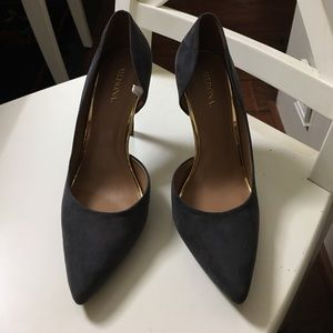 NWOT Gray d'Orsay Pointed Toe Heels