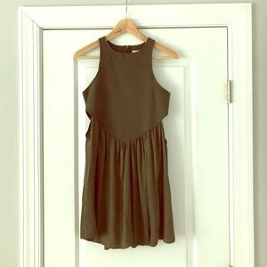 Olive green cutout dress