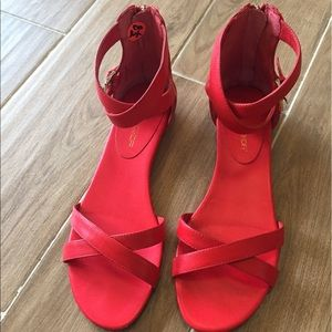 Rebecca Minkoff Shoes - Rebecca Minkoff Red Leather Strap Sandals