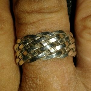 Jewelry - SALE! 925 sterling silver braided ring!