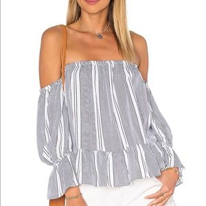 MISA Tops - MISA Los Angeles Off Shoulder Striped Top size M