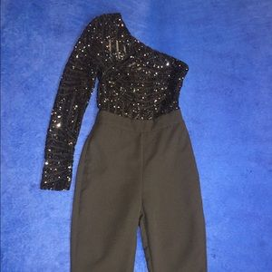 house of cb Other - XS House of CB Ambrea one Sleeve sequin jumpsuit