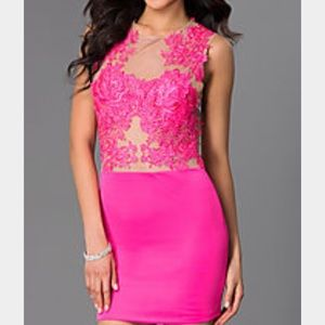 Pink lace Mini Dress, NWT, small