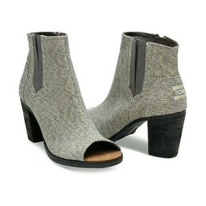 TOMS Shoes - NEW TOMs Grey Metallic Boot
