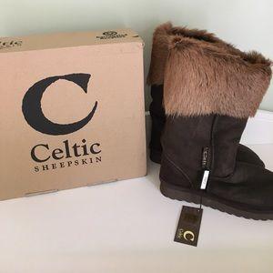 Celtic Sheepskin Cabra Boots, NWT