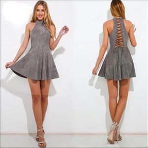 Dresses & Skirts - Lace Up Back Mini Dress