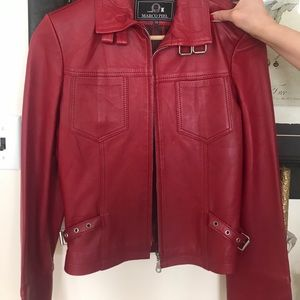 Marco Piel Jackets Amp Coats Genuine Red Leather Jacket