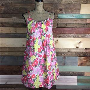 Jack Rogers Dresses & Skirts - Jack Rogers pink Spring Floral Sun Dress Size 4