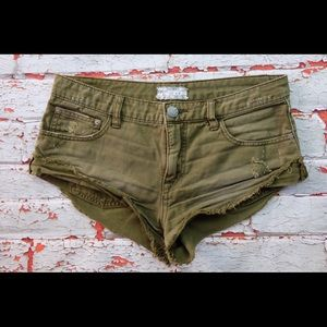 Free people short shorts size 26 green