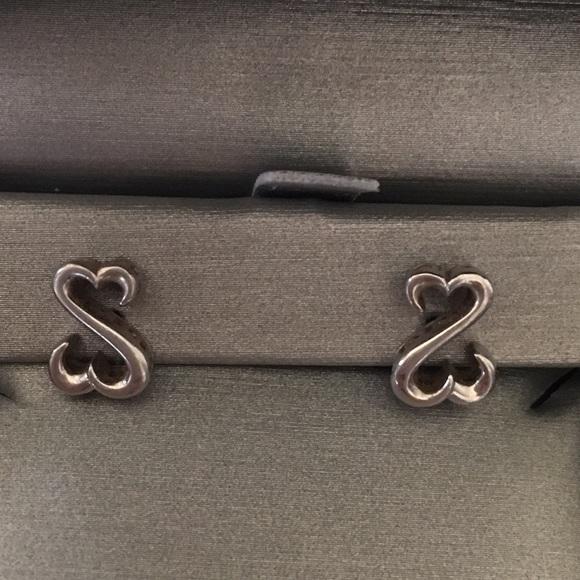 57% off Kay Jewelers Jewelry - Open Heart Earrings ...