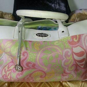 spartina 449 Handbags - Spartina 449 linen leather tote bag