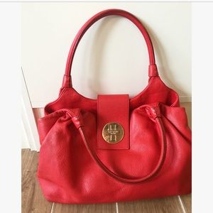 kate spade Handbags - Kate Spade Red Leather Hobo Purse