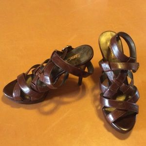 Wild Pair Shoes - New wild pair 8.5 brown strappy heel