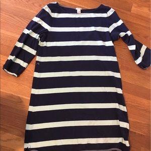 J. Crew nautical striped navy and mint dress