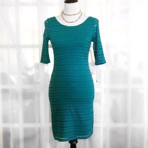 Eight Sixty Dresses & Skirts - Eight Sixty Emerald Green Eyelet BodyCon Dress