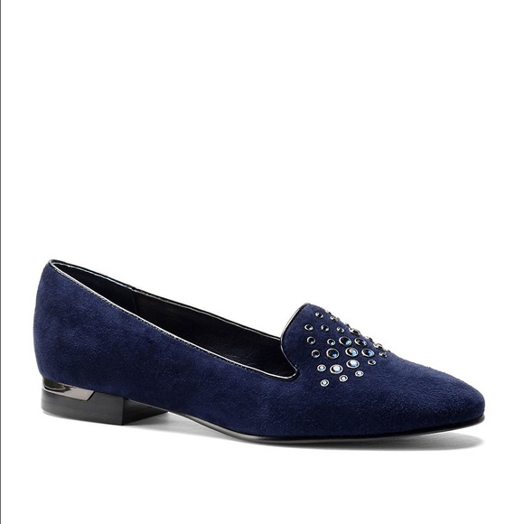 Isola Schuhes   Risa Blau Studded Smoking Loafer Slipper Loafer Smoking   Poshmark 4c6ec6