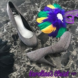 Fergalicious Shoes - Fergalicious by Fergie Sz 7 Glitter Rainbow Heels