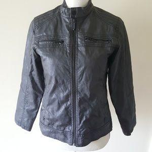 Black Rivet Other - Boys Faux Leather Moto Jacket