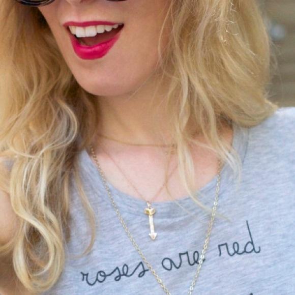 Rebecca Minkoff Jewelry - Rebecca Minkoff rose gold plated arrow necklace