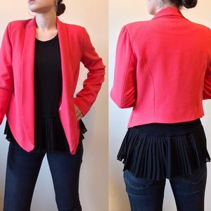 Forever21 pointed hem open blazer