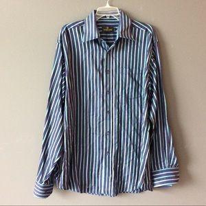 Bugatchi Uomo striped button down shirt