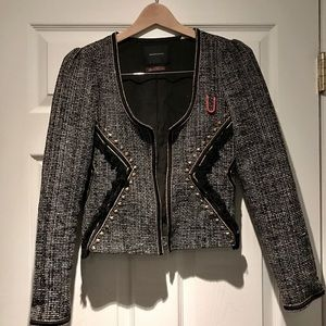 Madison Scotch tweed and tassel blazer
