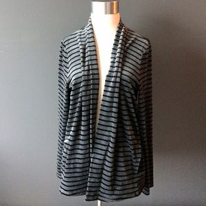 Talbots velour open front cardigan